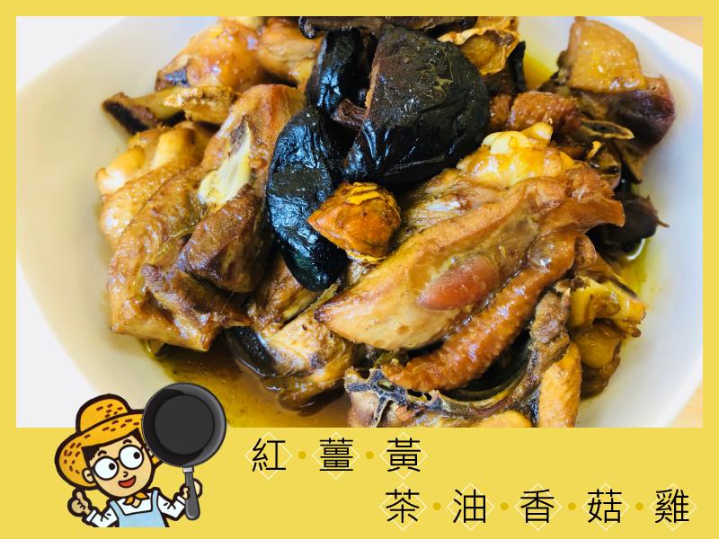 紅薑黃茶油香菇雞|月子料理之紅薑黃食補推薦